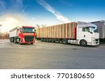 rest area for heavy trucks | Shutterstock . vector #770180650