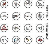 line vector icon set   plane... | Shutterstock .eps vector #770181859