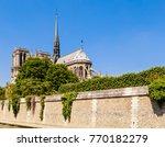 notre dame de paris catholic... | Shutterstock . vector #770182279