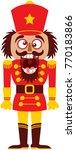 christmas nutcracker doll...   Shutterstock .eps vector #770183866