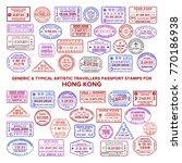 vector typical passport arrival ... | Shutterstock .eps vector #770186938