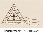 air mail triangle postmark... | Shutterstock .eps vector #770188969