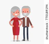 cute senior couple vector... | Shutterstock .eps vector #770189194