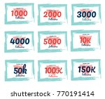 set of followers cards. thank... | Shutterstock .eps vector #770191414