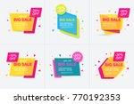 weekend sale banner  special... | Shutterstock .eps vector #770192353