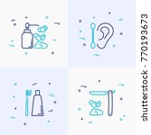 hygiene thin line icons set ... | Shutterstock .eps vector #770193673