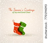 holiday greeting card | Shutterstock .eps vector #770194093