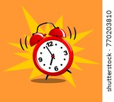 alarm clock red wake up time... | Shutterstock .eps vector #770203810