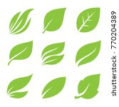 leaves icon set. | Shutterstock .eps vector #770204389