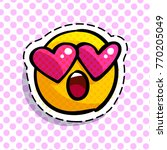 wondered smile with love... | Shutterstock .eps vector #770205049