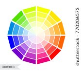 bright color wheel chart... | Shutterstock .eps vector #770206573