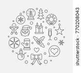 christmas and new year concept... | Shutterstock .eps vector #770208043
