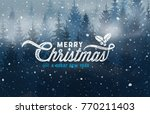 christmas typography card | Shutterstock .eps vector #770211403