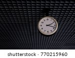 old white circle clock hanging... | Shutterstock . vector #770215960