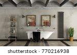 bathroom in industrial style... | Shutterstock . vector #770216938