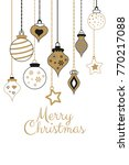 vector gold greetings cards for ... | Shutterstock .eps vector #770217088