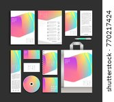 corporate identity holographic... | Shutterstock .eps vector #770217424