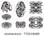 tribal abstract mustang head...   Shutterstock .eps vector #770218480