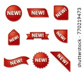 new label and sticker set | Shutterstock . vector #770219473