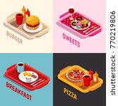 food cooking isometric concept...   Shutterstock .eps vector #770219806