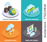 cloud computing service concept ... | Shutterstock .eps vector #770219818