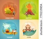 natural disasters design... | Shutterstock .eps vector #770219854