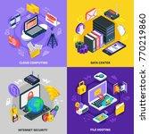 cloud services 2x2 design... | Shutterstock .eps vector #770219860