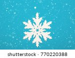 Snowflake With Silver Glitter...