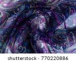silk fabric texture  abstract... | Shutterstock . vector #770220886