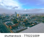 aerial drone view of city... | Shutterstock . vector #770221009