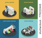 printing house 4 isometric... | Shutterstock .eps vector #770222443