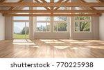 empty room in luxury eco house  ... | Shutterstock . vector #770225938