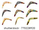 set of native boomerangs....