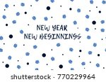 new year greeting card with... | Shutterstock .eps vector #770229964