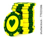 colorful casino chips isolated... | Shutterstock . vector #77023186