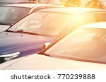 roofs of several cars. a lot of ... | Shutterstock . vector #770239888