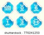 set of vector label stickers... | Shutterstock .eps vector #770241253