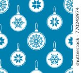 seamless pattern with christmas ... | Shutterstock .eps vector #770243974