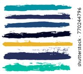 brush strokes set backgrounds.... | Shutterstock .eps vector #770244796