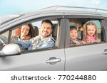young family with children in... | Shutterstock . vector #770244880