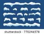 snow ice icicle set winter... | Shutterstock . vector #770246578