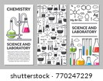 banners on a scientific topic.... | Shutterstock .eps vector #770247229