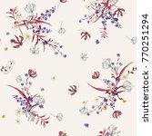 trendy  gentle floral pattern...   Shutterstock .eps vector #770251294
