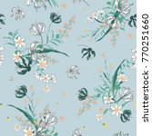 vector soft blooming floral... | Shutterstock .eps vector #770251660