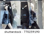 two mannequins standing in... | Shutterstock . vector #770259190