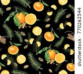 Pattern With Orange Tangerine ...