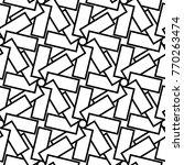 white and black geometric... | Shutterstock .eps vector #770263474