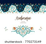 vector vintage decor  ornate... | Shutterstock .eps vector #770273149