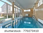 swimming pool indoor | Shutterstock . vector #770273410