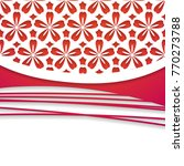 3d paper floral background   Shutterstock .eps vector #770273788